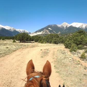 View of Mt. Antero & Mt. Princeton @ Mt. Princeton Riding Stables