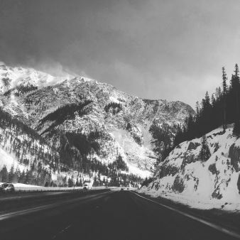 View on I70 West heading back to Buena Vist